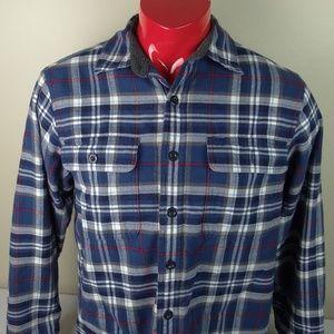 LL Bean Traditional Fit Fleece Lined Plaid Shirt